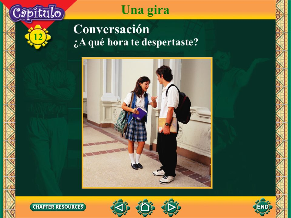 12 Una gira 1. cepillarse los dientes 2. ducharse Indicate which activities Isabel will do based on what you heard and saw. 3. maquillarse 4. lavarse