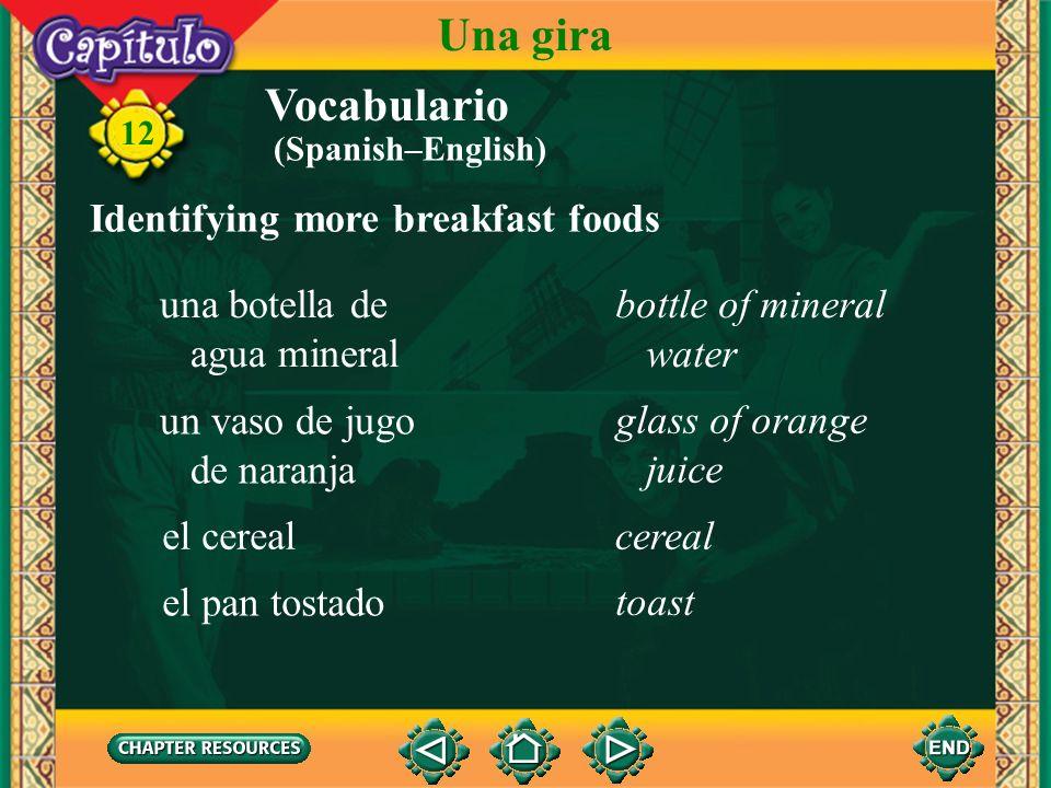 Vocabulario Identifying more parts of the body la caraface 12 Una gira los dientes el pelo teeth hair (Spanish–English)