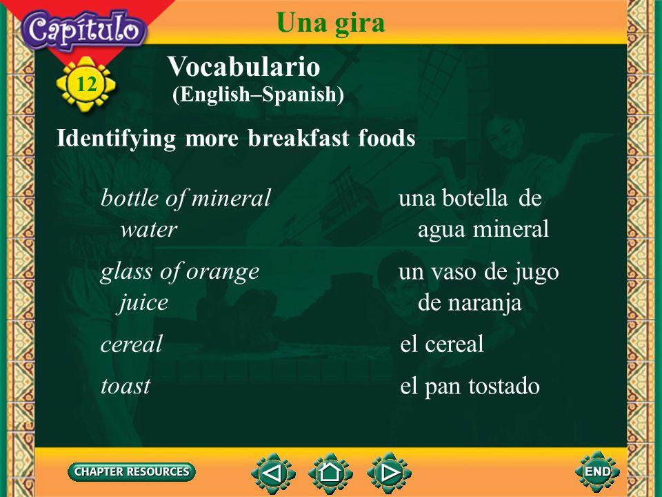 Vocabulario Identifying more parts of the body la caraface 12 Una gira los dientes el pelo teeth hair (English–Spanish)