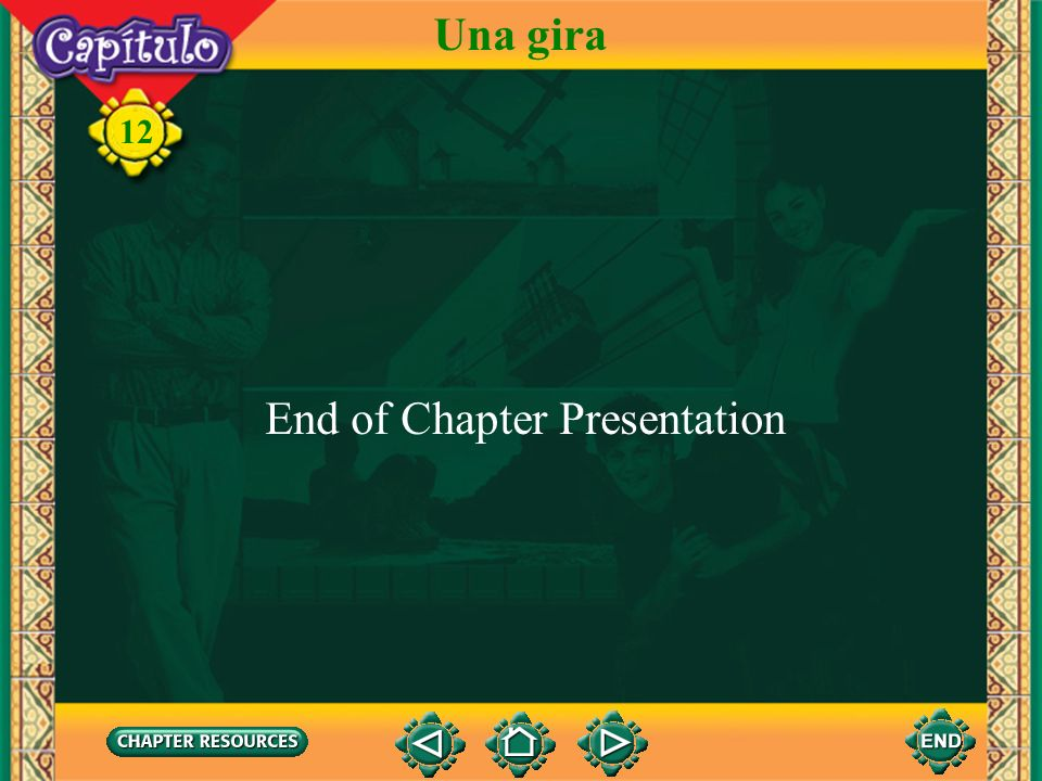 12 Una gira To transfer images to your own PowerPoint ® follow the following steps: Open the Resource file within the chapter file from the CD- ROM di