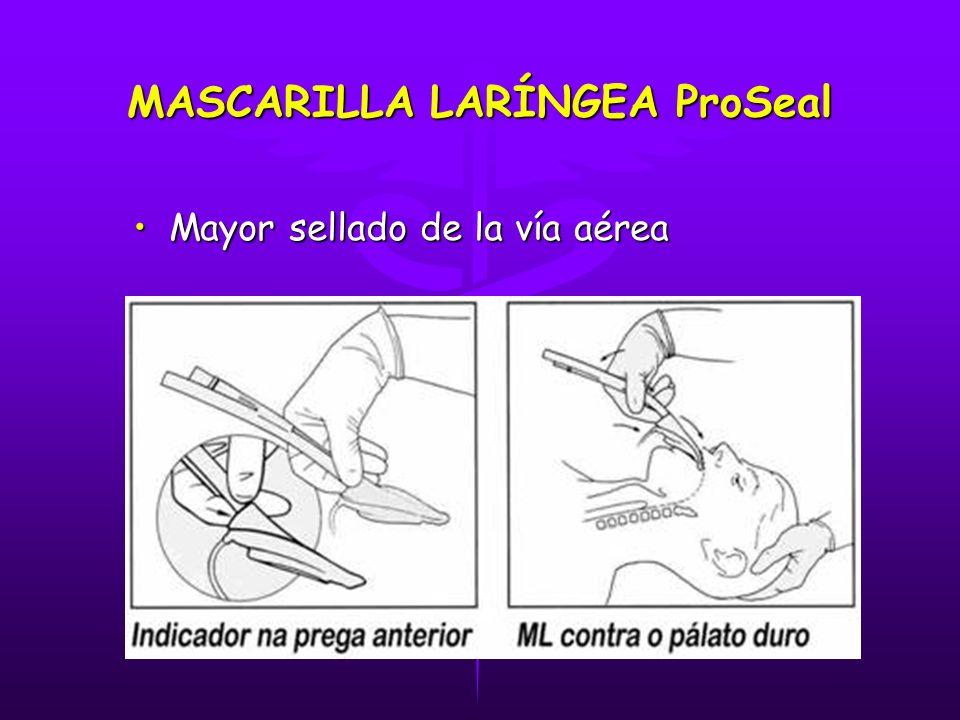 MASCARILLA LARÍNGEA ProSeal Mayor sellado de la vía aéreaMayor sellado de la vía aérea