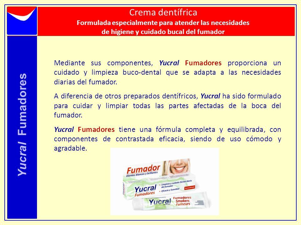 Yucral Fumadores Mediante sus componentes, Yucral Fumadores proporciona un cuidado y limpieza buco-dental que se adapta a las necesidades diarias del