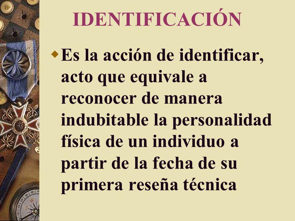 IDENTIDAD Conjunto de características y particularidades de origen congénito o adquiridas que hacen que una persona sea ella misma.
