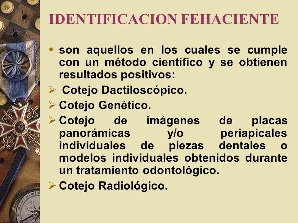 EQUIPO INTERDICIPLINARIO DE IDENTIFICACION El grupo es un equipo de profesionales en las ciencias forenses, que involucra a, Dactiloscopistas, Odontól