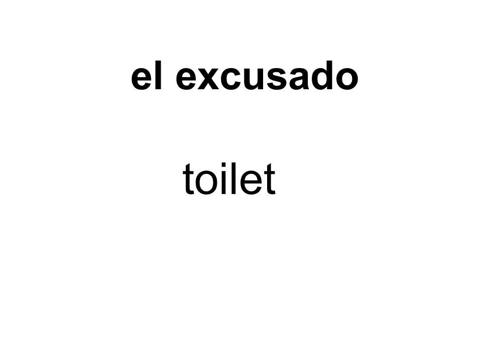 el excusado toilet