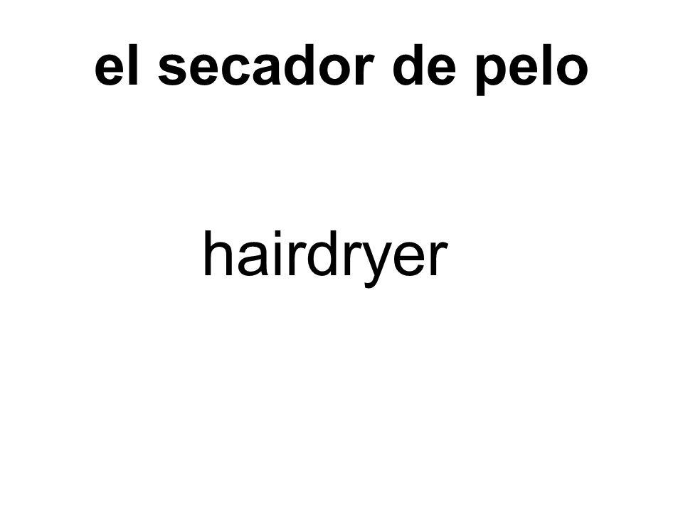 el secador de pelo hairdryer