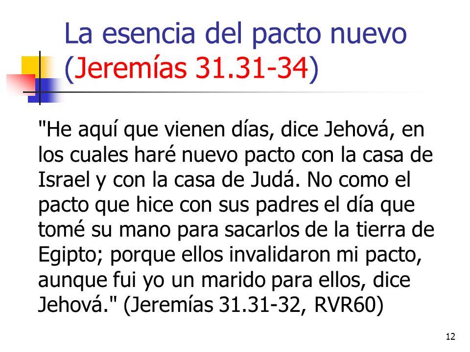 12 La esencia del pacto nuevo (Jeremías 31.31-34)