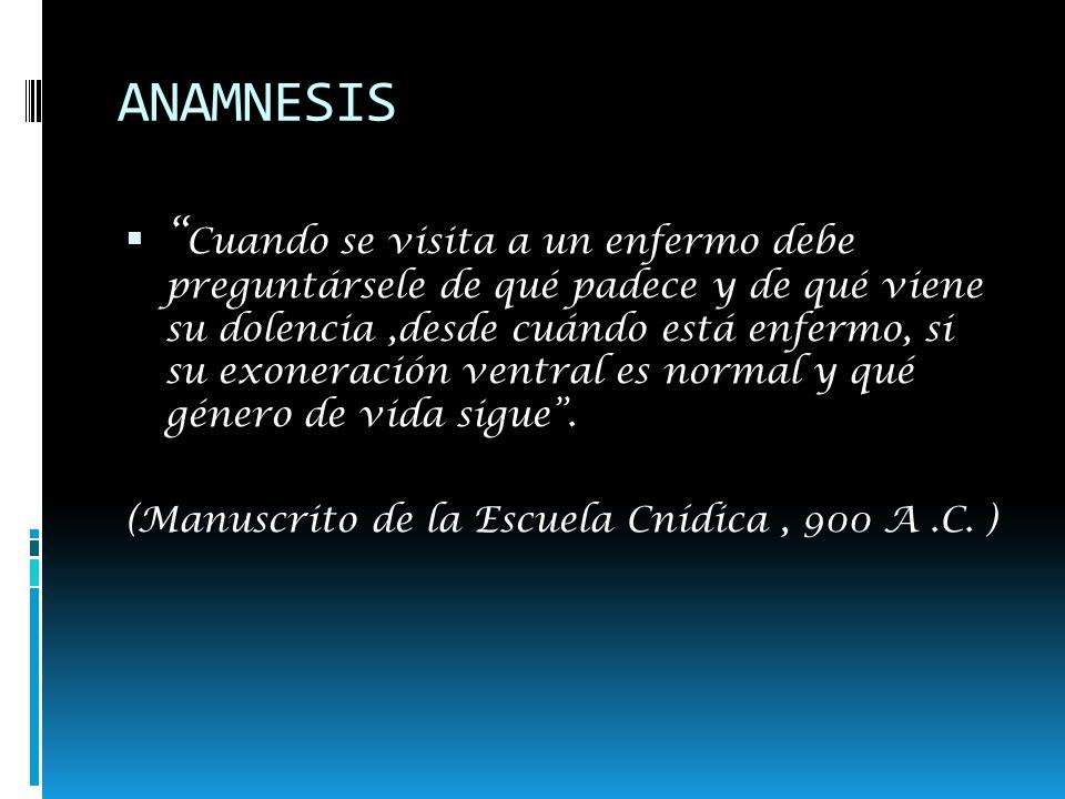 Anamnesis Espontánea Dirigida Énfasis en síntomas atingentes a la patología Boca Faringe.