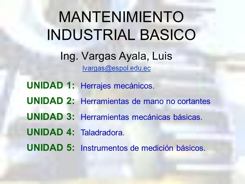 MANTENIMIENTO INDUSTRIAL BASICO Ing.
