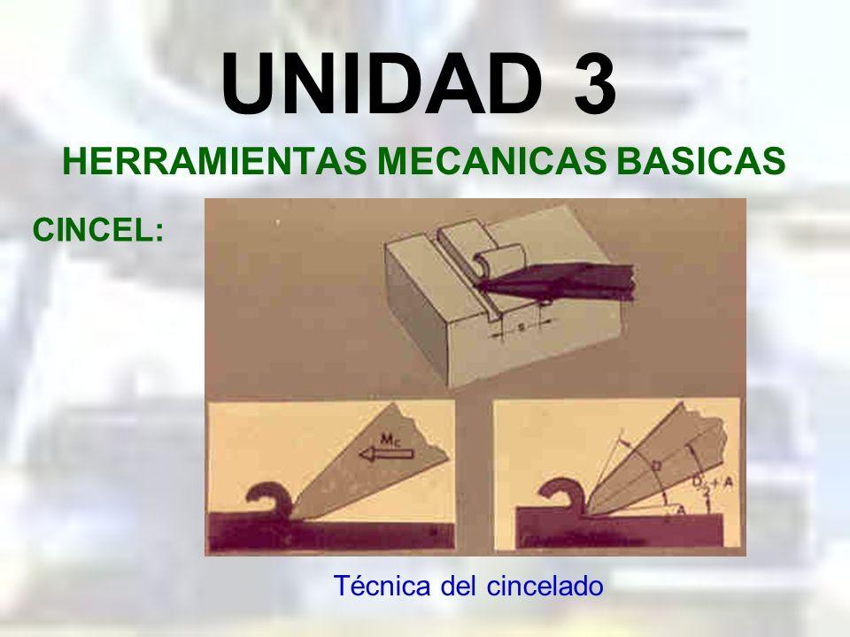 UNIDAD 3 HERRAMIENTAS MECANICAS BASICAS CINCEL: Modo de cincelar
