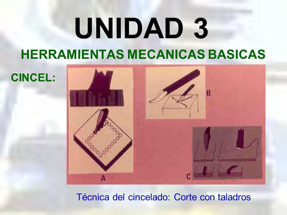 UNIDAD 3 HERRAMIENTAS MECANICAS BASICAS CINCEL: Técnica del cincelado: Corte de chapa gruesa