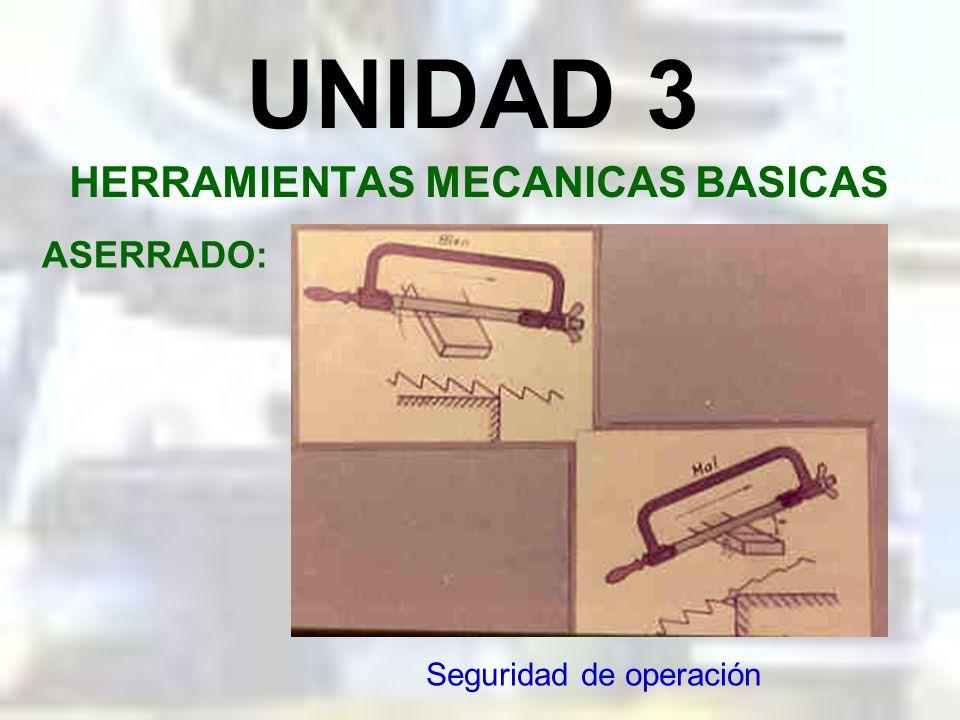 UNIDAD 3 HERRAMIENTAS MECANICAS BASICAS ASERRADO: Montaje de la sierra