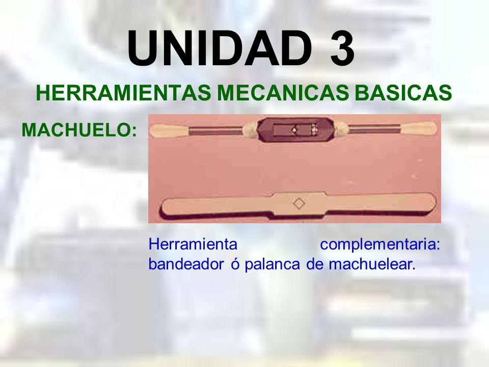 UNIDAD 3 HERRAMIENTAS MECANICAS BASICAS MACHUELO: Importancia del agujero previo.