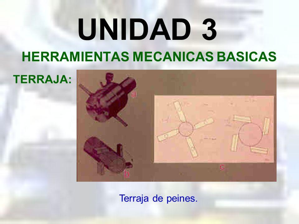 UNIDAD 3 HERRAMIENTAS MECANICAS BASICAS TERRAJA: Modelos de terrajas.
