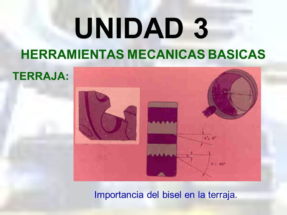 UNIDAD 3 HERRAMIENTAS MECANICAS BASICAS TERRAJA: Terraja de peines.