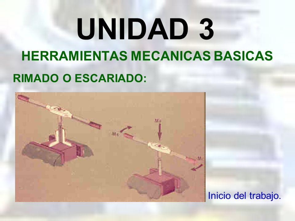UNIDAD 3 HERRAMIENTAS MECANICAS BASICAS RIMADO O ESCARIADO: Rima expandible de cuchillas.