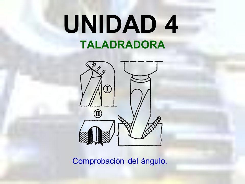 UNIDAD 4 TALADRADORA Angulos de las brocas.