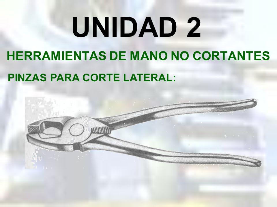 UNIDAD 2 HERRAMIENTAS DE MANO NO CORTANTES PINZAS DE PUNTAS DOBLADAS: