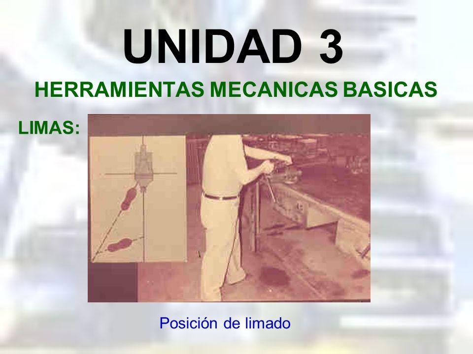 UNIDAD 3 HERRAMIENTAS MECANICAS BASICAS LIMAS: Sujeción de la lima