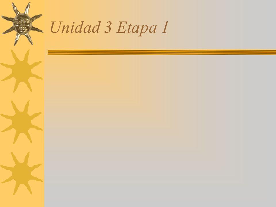 Unidad 3 Etapa 1