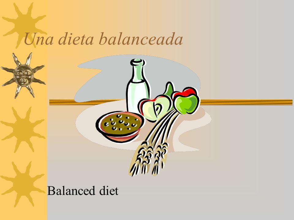 Una dieta balanceada Balanced diet