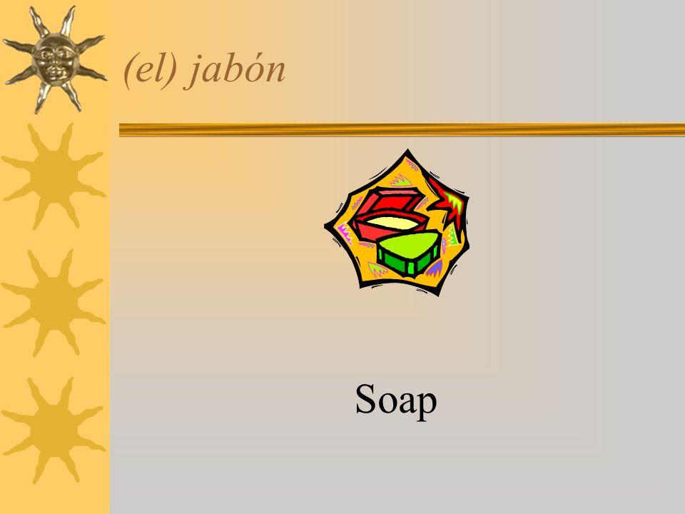 (el) jabón Soap