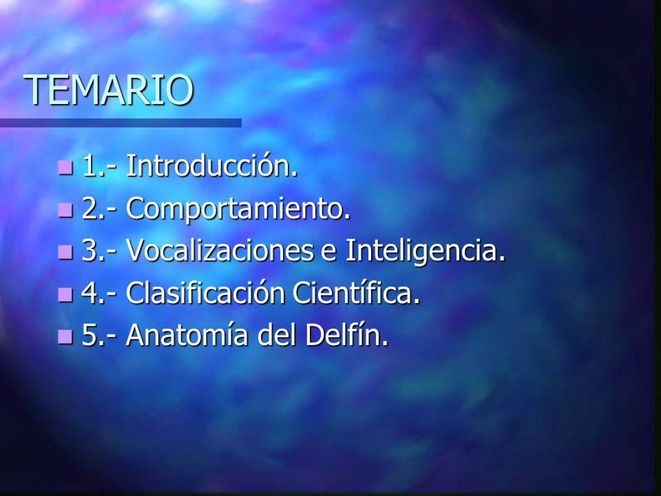 TEMARIO 1.- Introducción.1.- Introducción. 2.- Comportamiento.