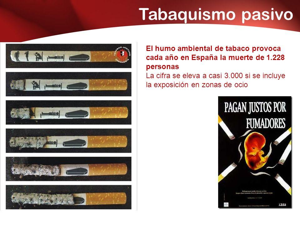 Tabaquismo pasivo El humo ambiental de tabaco provoca cada año en España la muerte de 1.228 personas La cifra se eleva a casi 3.000 si se incluye la exposición en zonas de ocio