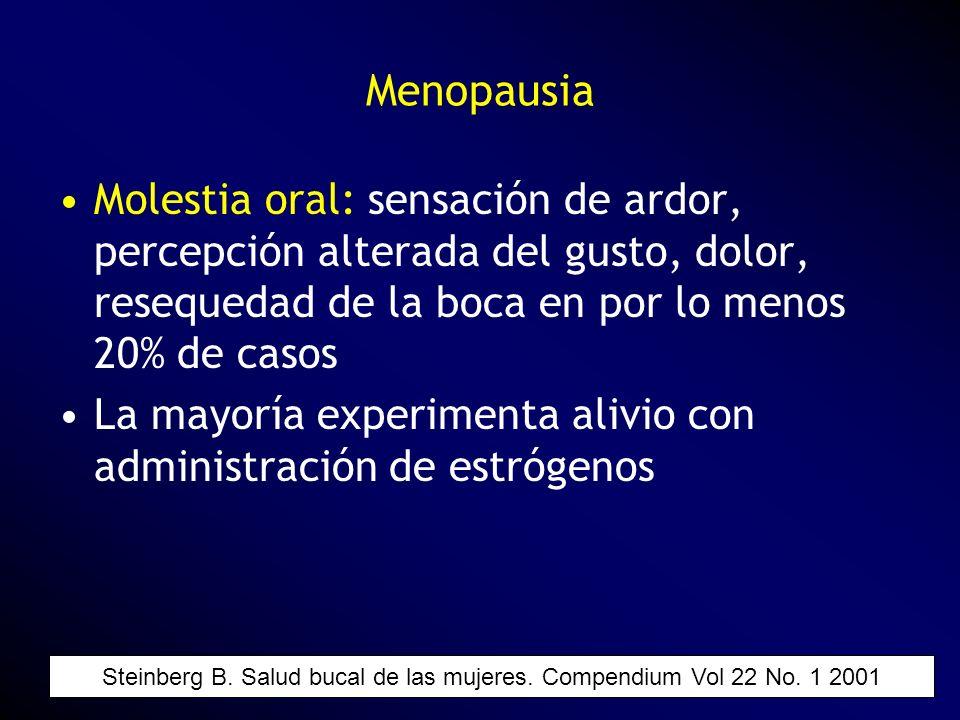 Molestia oral: sensación de ardor, percepción alterada del gusto, dolor, resequedad de la boca en por lo menos 20% de casos La mayoría experimenta ali