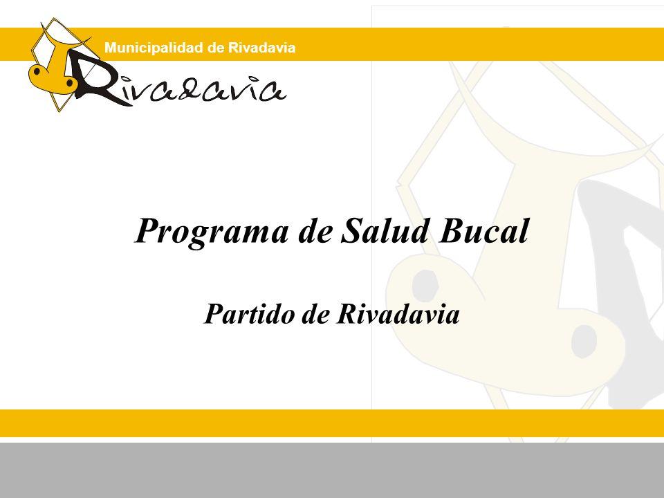 Municipalidad de Rivadavia REGION SANITARIA II PARTIDO DE RIVADAVIA Superficie: 3.955 km 2 Población: 15.468 hab.