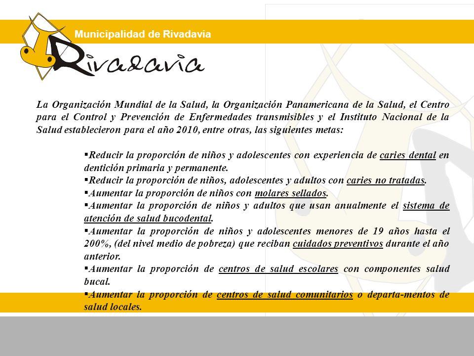 Municipalidad de Rivadavia La Organización Mundial de la Salud, la Organización Panamericana de la Salud, el Centro para el Control y Prevención de En