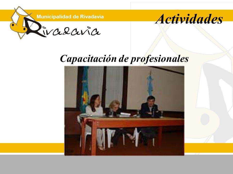 Municipalidad de Rivadavia Actividades Capacitación de profesionales