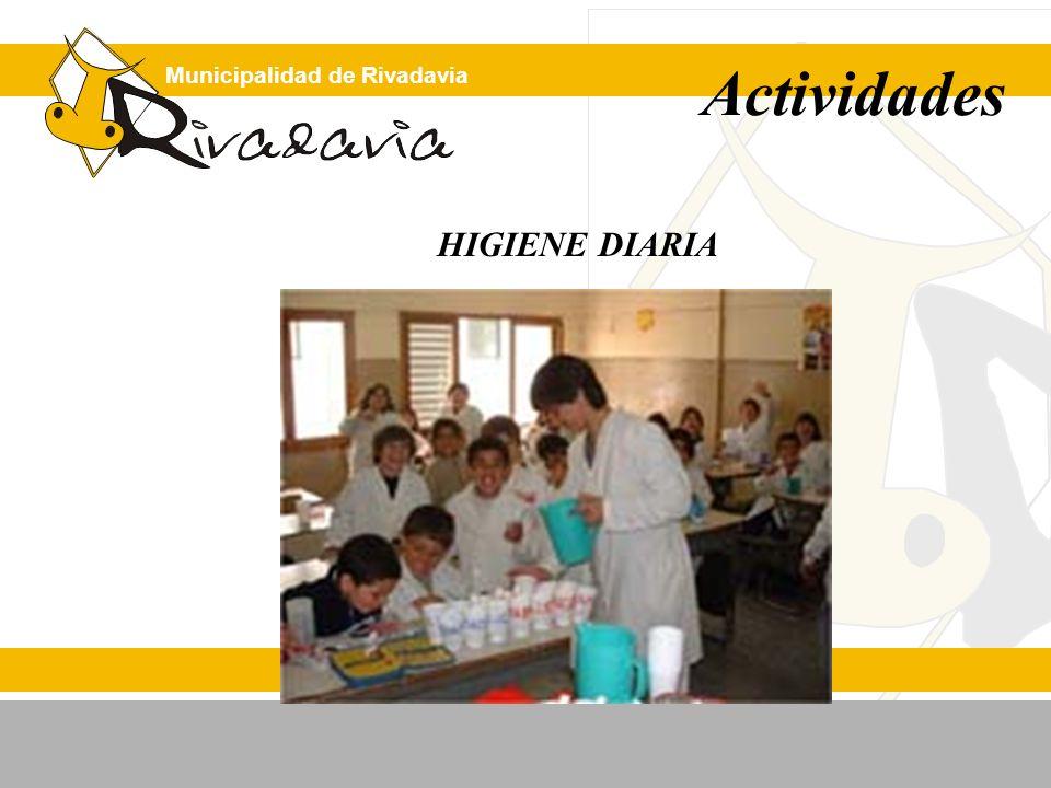 Municipalidad de Rivadavia Actividades HIGIENE DIARIA