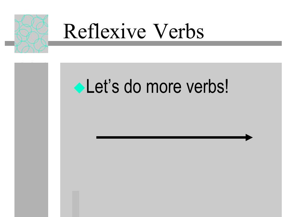 Reflexive Pronouns Before the verb: Me voy a lavar el pelo. After the infinitive: Voy a lavar me el pelo.