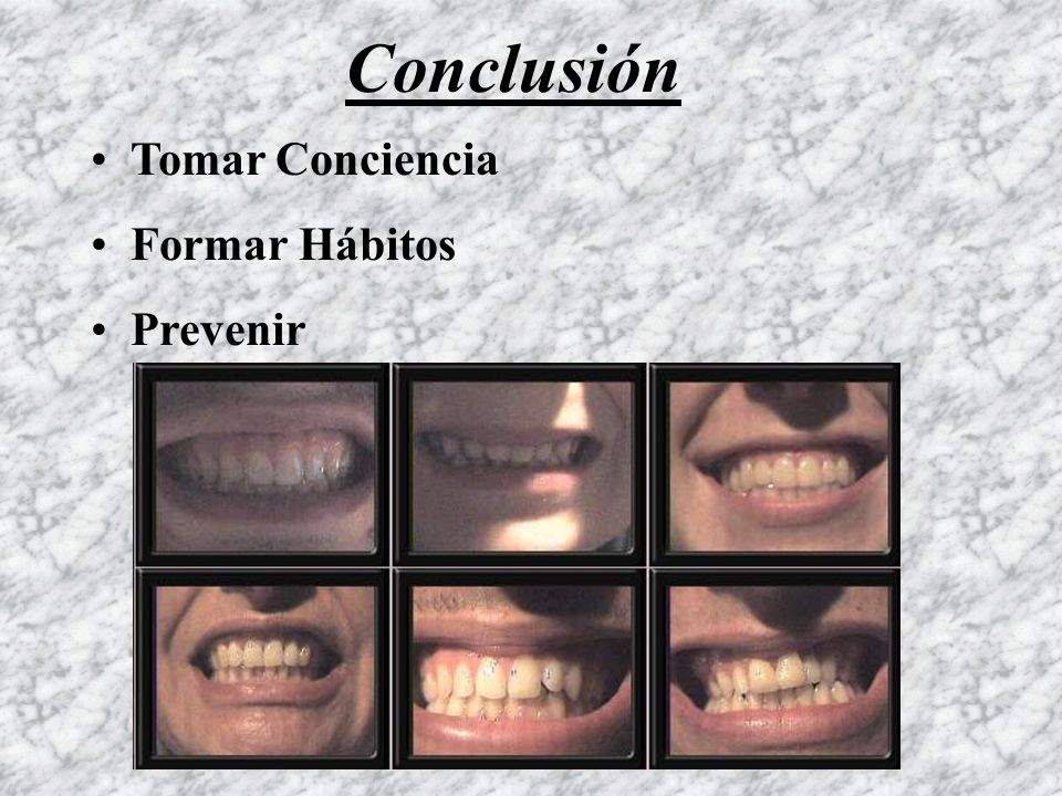 Conclusión Tomar Conciencia Formar Hábitos Prevenir