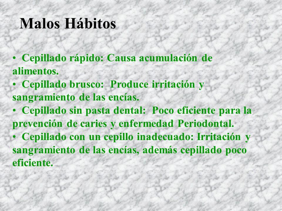 Desinterés en Salud Bucal Falta de hábitos en salud bucal.