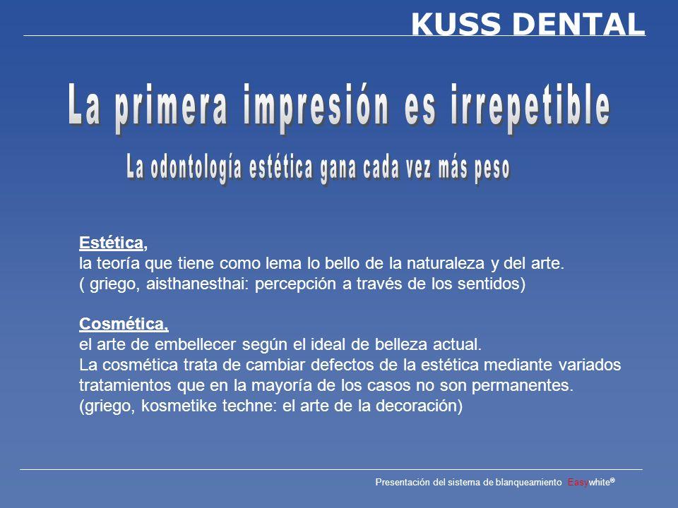Presentación del sistema de blanqueamiento Easywhite ® KUSS DENTAL Una bonita sonrisa, su mejor presentación