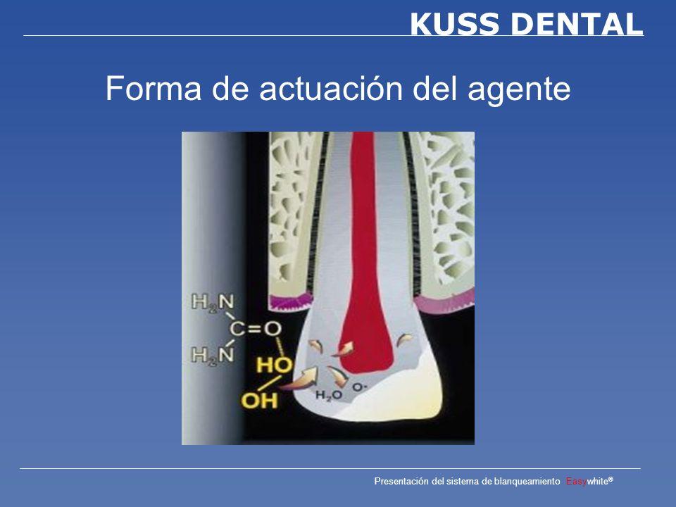 Presentación del sistema de blanqueamiento Easywhite ® KUSS DENTAL Origen de decoloración dental Por edad Por alimentos Por medicamentos Tras tratamientos apicales Hereditario