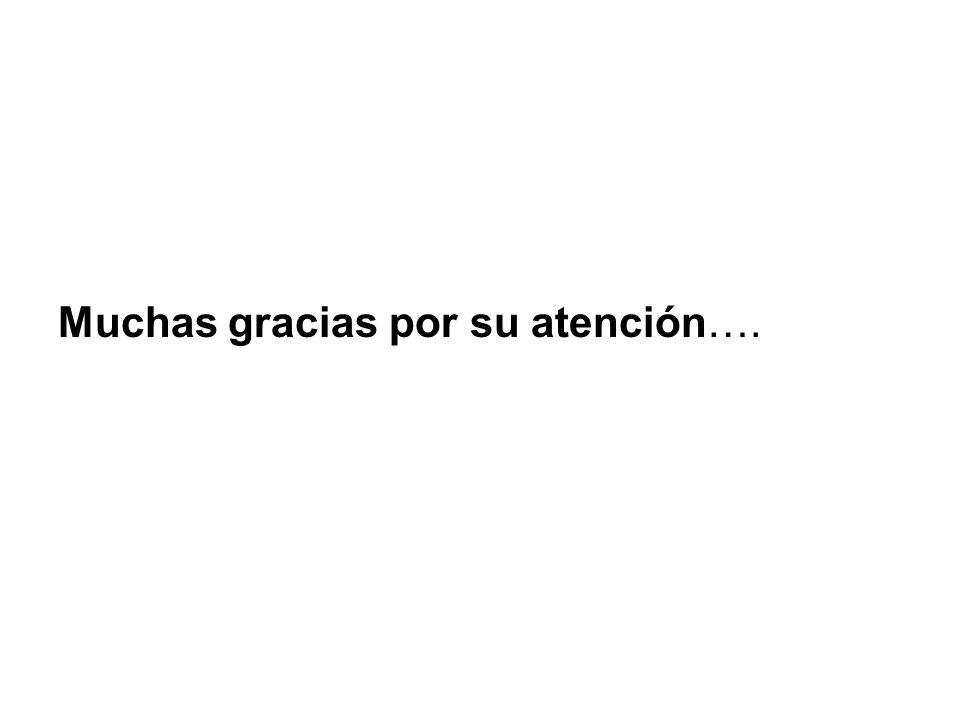 Muchas gracias por su atención….