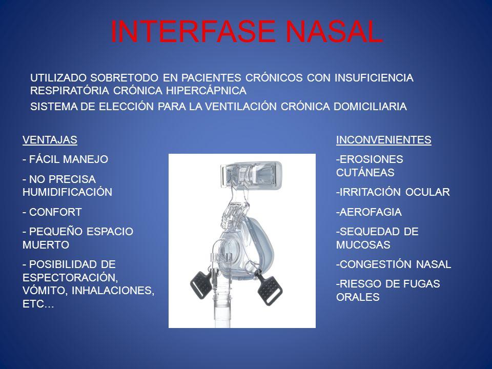 TIPOS DE INTERFASE NASAL MÁSCARAS NASALESALMOHADILLAS NASALES