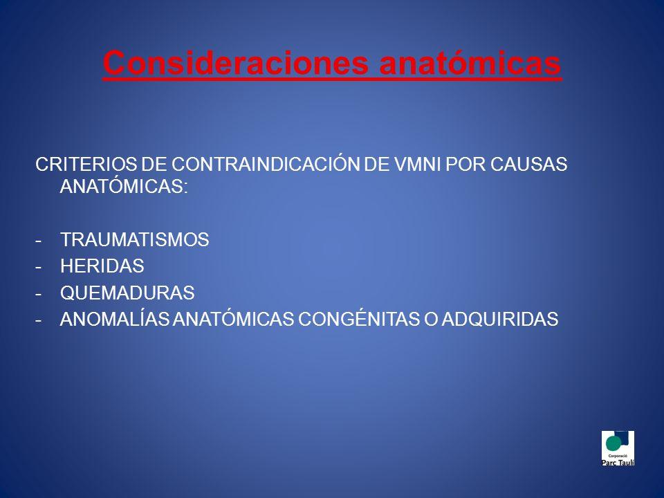 ANOMALÍAS ANATÓMICAS A TENER EN CUENTA EXCESO DE BARBA O EXCESO DE PELO ANOMALÍAS CRANEO-CERVICALES Y ANORMALIDADES DEL MACIZO FACIAL ANOMALÍAS MORFOLÓGICAS CONGÉNITAS O ADQUIRIDAS DE LA NARIZ FALTA DE DENTICIÓN MACROGLOSIA HIPO/HIPERPLASIA MANDIBULAR BOCIO, AUMENTO DE GRASA CERVICAL, ETC ANOMALÍAS DEL TABIQUE NASAL O CORNETES CRECIMIENTO DEL TEJIDO MUCOSO DE ORIGEN INFLAMATORIO O TUMORAL A NIVEL LARÍNGEO