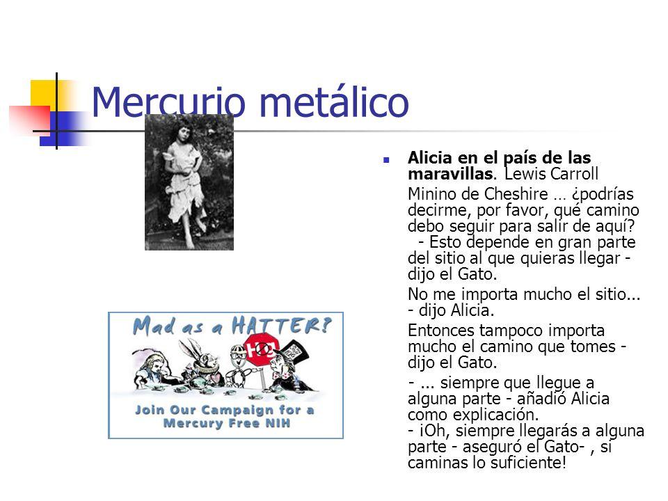 Mercurio metálico Alicia en el país de las maravillas. Lewis Carroll Minino de Cheshire … ¿podrías decirme, por favor, qué camino debo seguir para sal