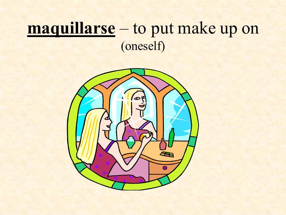 Pronouns used with reflexive verbs Yo - me Tú - te Él Ella - se Ud.