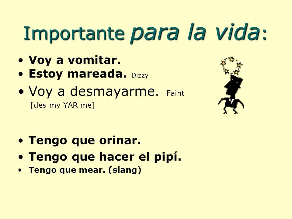 En ingl é s: I broke my arm.En español, dont take the rap.