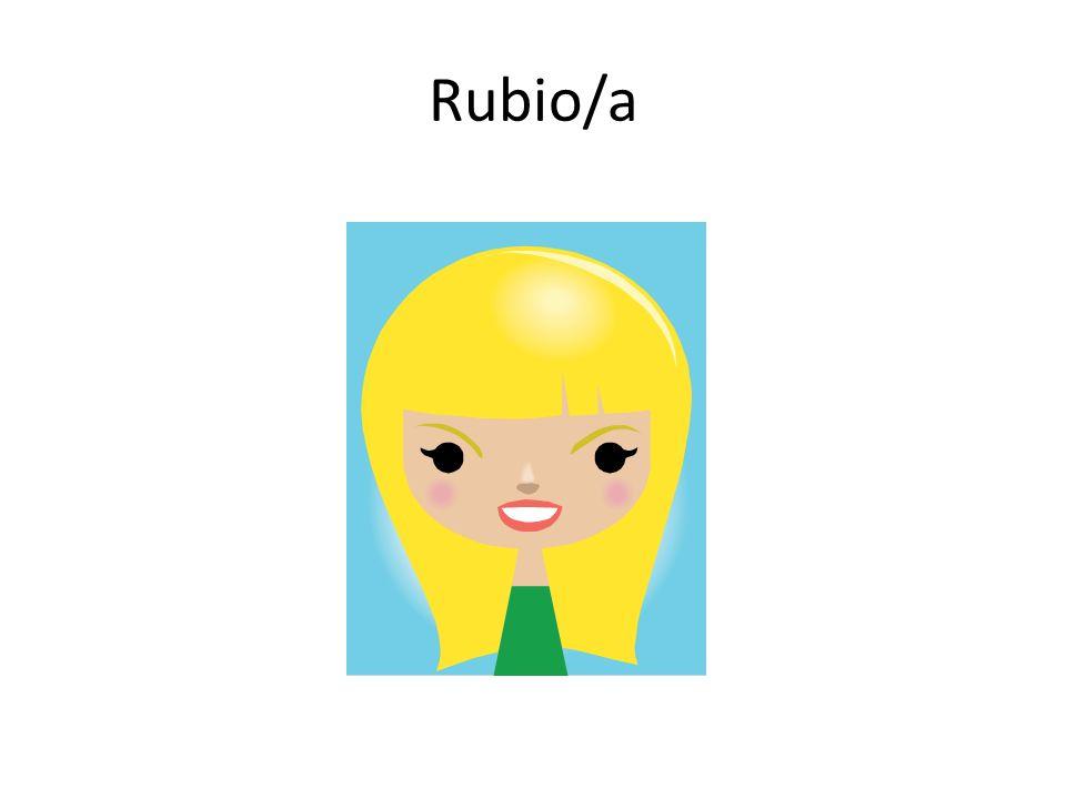 Rubio/a