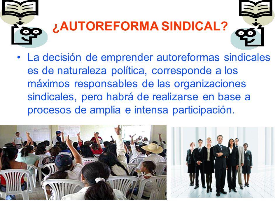¿Qué tan necesaria es, en qué consistiría y cómo se haría una posible auto reforma sindical?