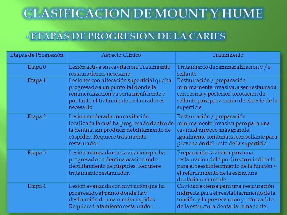 SITIO 1 ESTADÍO 0 Y 1 REMINERALIZACIÓN, SELLANTES DE FOSAS Y FISURAS Y CAVIDADES PREVENTIVAS DE RESINA