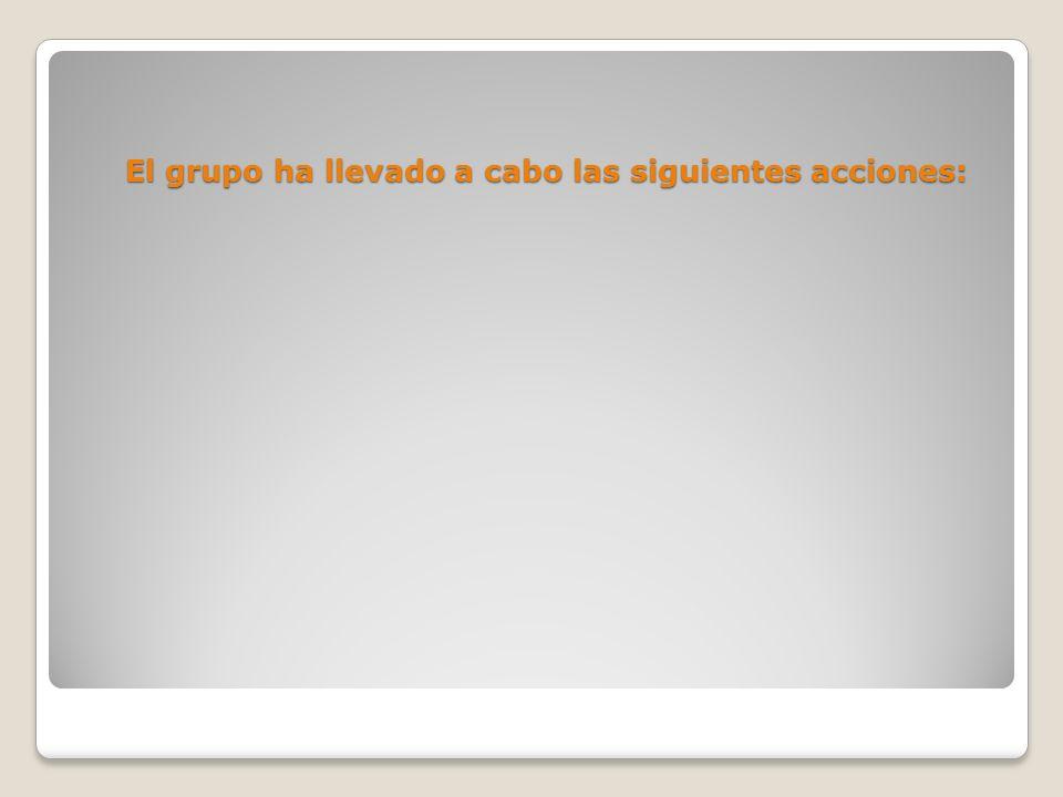 El grupo ha llevado a cabo las siguientes acciones: