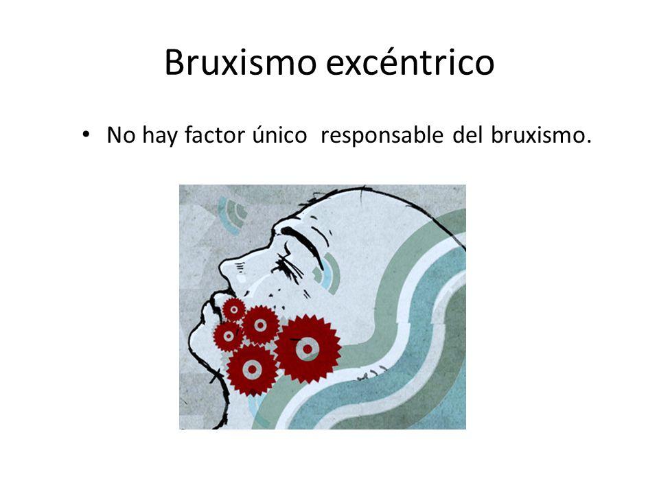 Bruxismo excéntrico No hay factor único responsable del bruxismo.