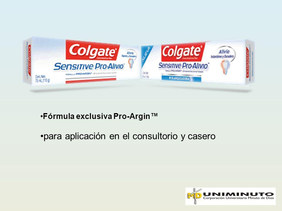 Fórmula exclusiva Pro-Argin para aplicación en el consultorio y casero
